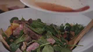 5pm panic: Warm beef and lentil salad