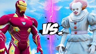 IRON MAN vs PENNYWISE (IT) - Epic Battle