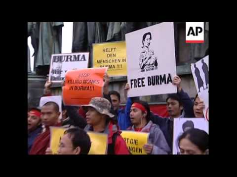 WRAP  Protests against Myanmar in Hong Kong, Berlin, Cologne, Brussels, Paris