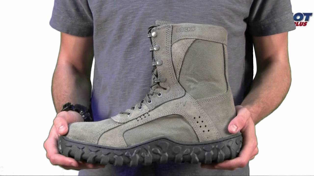 Men s Rocky S2V Steel Toe Sage Green Military Boot - YouTube 636b09f29f01