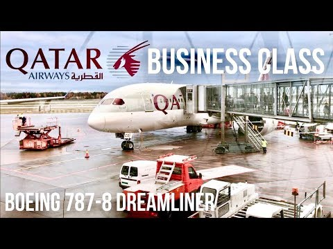 Qatar Airways Business Class Boeing 787 Dreamliner Oslo to Doha