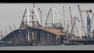 Крымский(26.12.2017)мост! Строительство Ж/Д моста (опоры,пролёты) со стороны Крыма! Свежие новости!