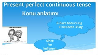 Present perfect continuous tense konu anlatımı