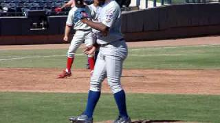 Esmailin Caridad of the Chicago Cubs
