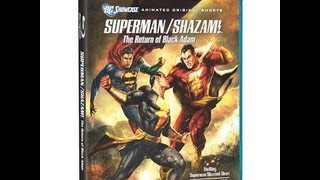 Superman/Shazam: The Return Of Black Adam Blu-Ray Unboxing