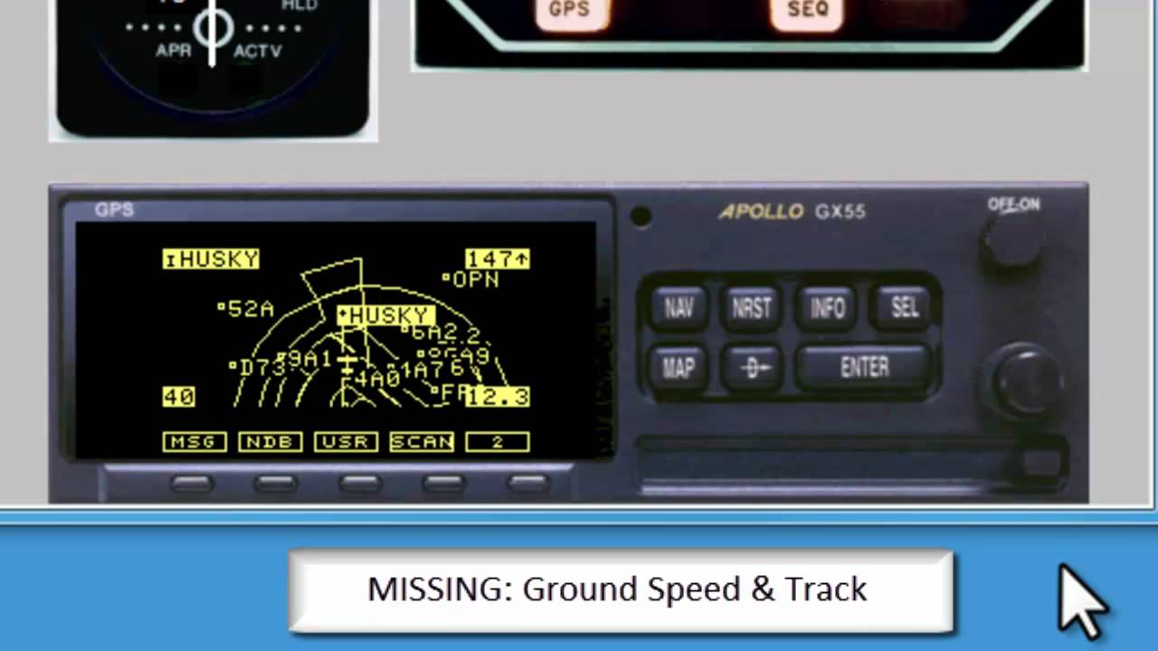 #3 Maps & Controls: GARMIN Apollo GPS Simulator Training GX55 GX60