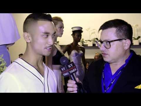 Designer Ryan Jordan interviewed at New York Fashion Week by NewYorkFashionTimes.com