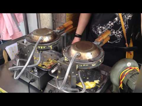 Chinese Street Food - Hong Kong Style Egg Waffle - 香港雞蛋仔