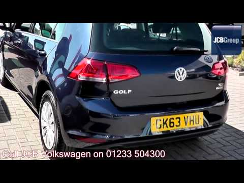 2013 Volkswagen Golf S 1.6l Night Blue Metallic GK63VHU for sale at JCB VW Ashford