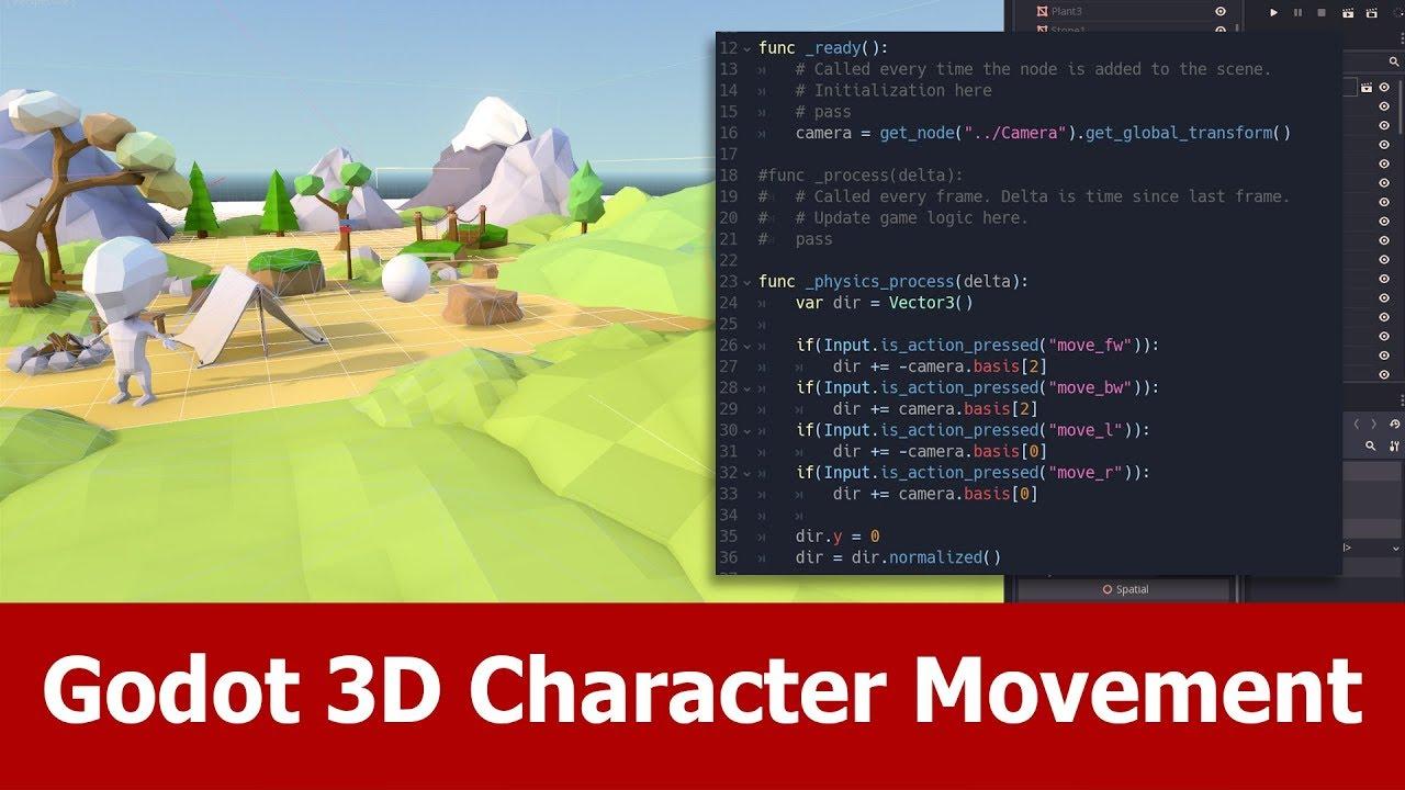 Godot Engine 3d Character Movement