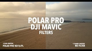 DJI MAVIC Polar Pro Filters Comparision