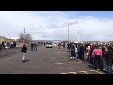 Donald Trump rally in Superior WI  -Today-  Trump supporters threaten to murder & Kill protesters!!!
