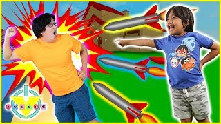 Roblox Destruction Sim ROCKET FIRE Let's Play with VTubers Ryan & Daddy