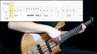 Black Sabbath - Iron Man (Bass Cover) (Play Along Tabs In Video)