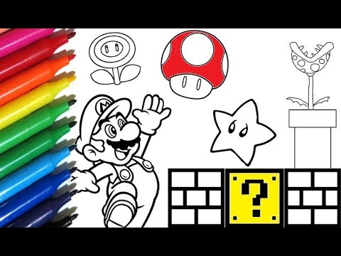 Coloring Pages Super Mario World Painting With Watercolor