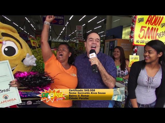 Genivaldo Sousa, de Peruíbe, levou 5 Mil Reais
