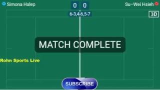 HALEP S. vs HSIEH S-W. Live Now Wimbledon 2018 - Score