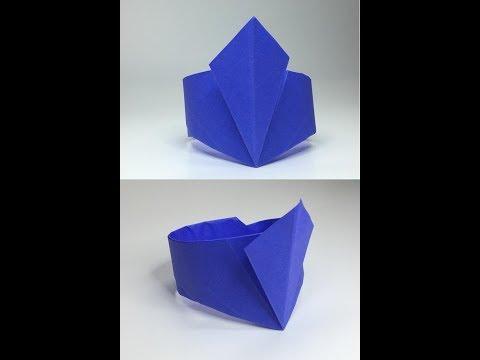 Origami Paper Diamond Shaped Bracelet/Wristband #1 - A to Z DIY ORIGAMI PAPER CRAFT