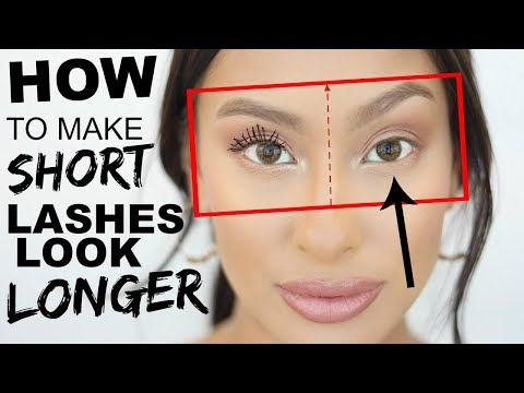 How to make SHORT Lashes look LONGER Tips & Tricks  Lash Routine for weak lashes