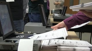 Wisconsin Presidential Recount -Machine Counting In Hudson, WI
