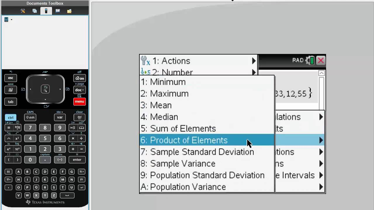 Median, Mean, Max, Min Tinspire Cx Cas Youtube How To Calculate Standard  Deviation