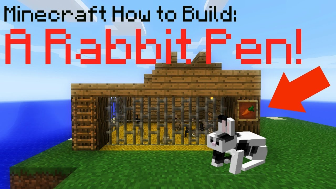 Minecraft How To Build A Rabbit Pen Improved Youtube