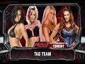 WWE 2K14: Ashley Massaro & Candice Michelle vs Kelly Kelly & Eve Torres