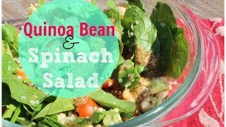 Back To School Lunch Ideas: Quinoa & Bean Spinach Salad