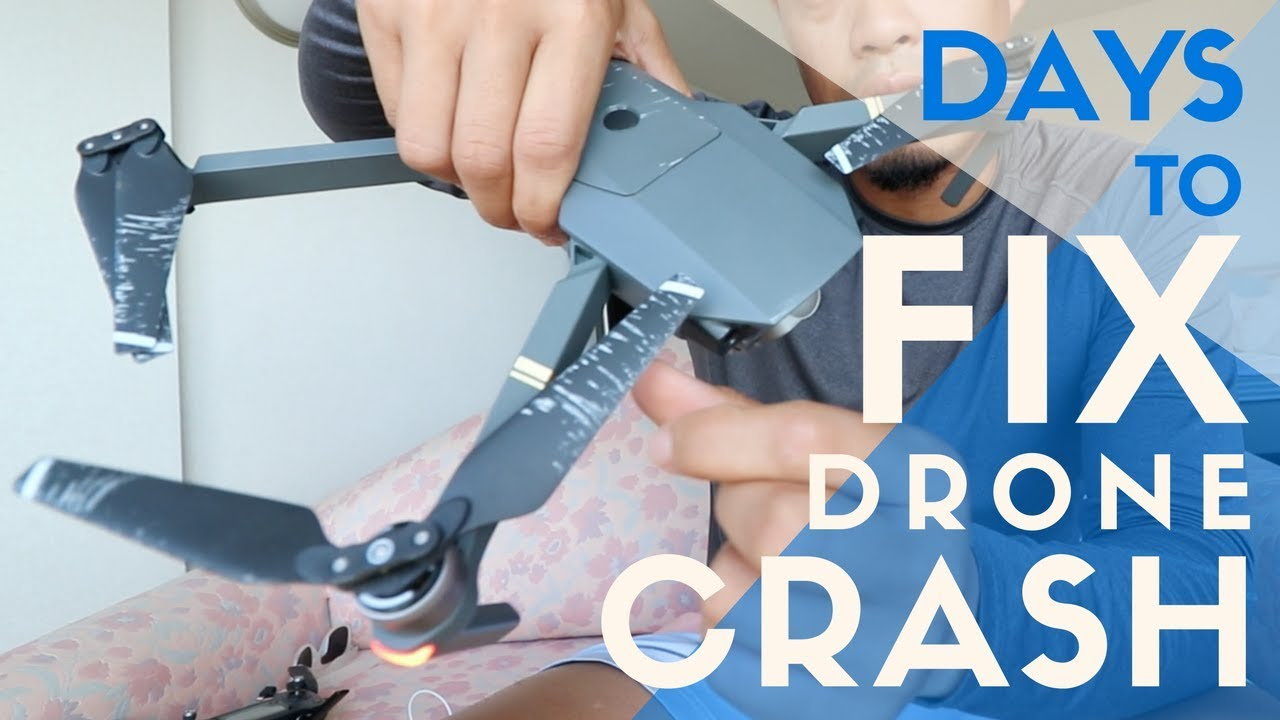 f1041faa7ba CRASHED my DJI Mavic Pro Gimbal Repair with DJI Support | THIS MANY DAYS TO  FIX