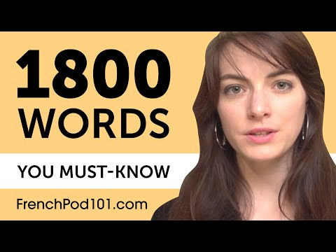 1800 Words Every French Beginner Must Know