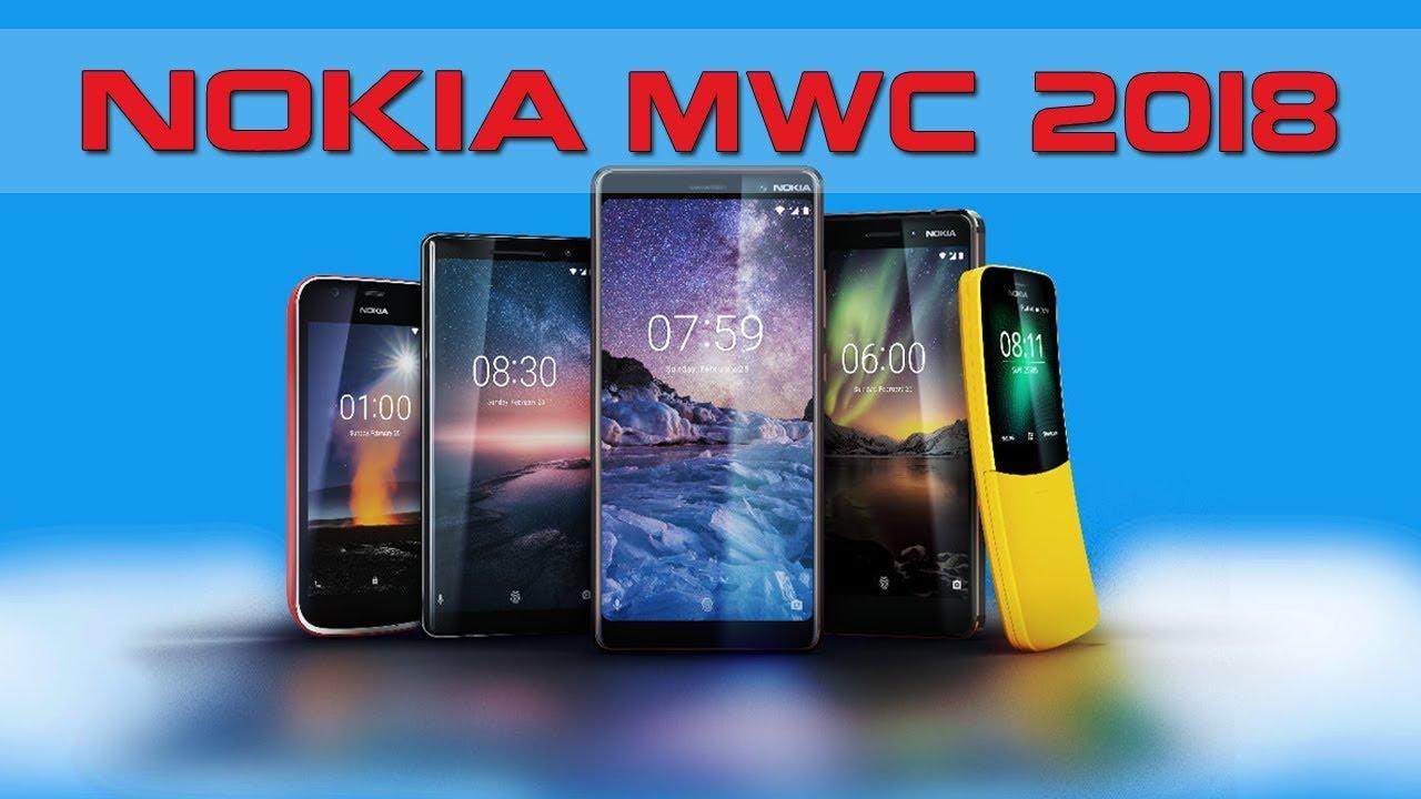 5 Smartphone Terbaru Nokia Di Ajang MWC 2018 - YouTube