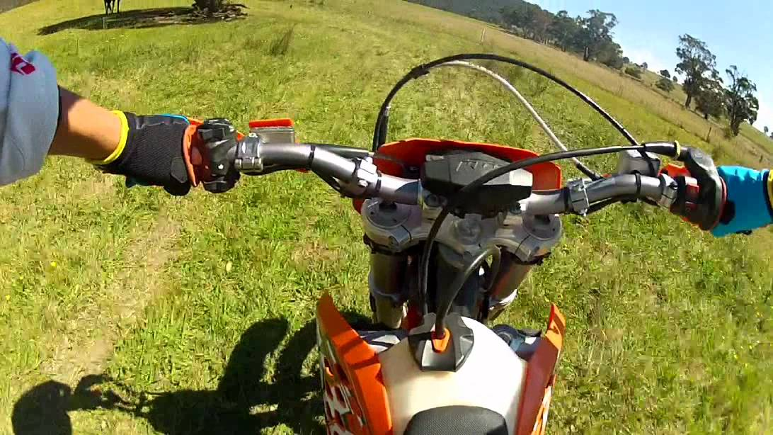 2011 ktm 200 exc go pro (chest mount) - youtube