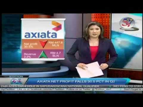 Axiata Group Berhad Net Profit Falls 30.5 Percent in Q2