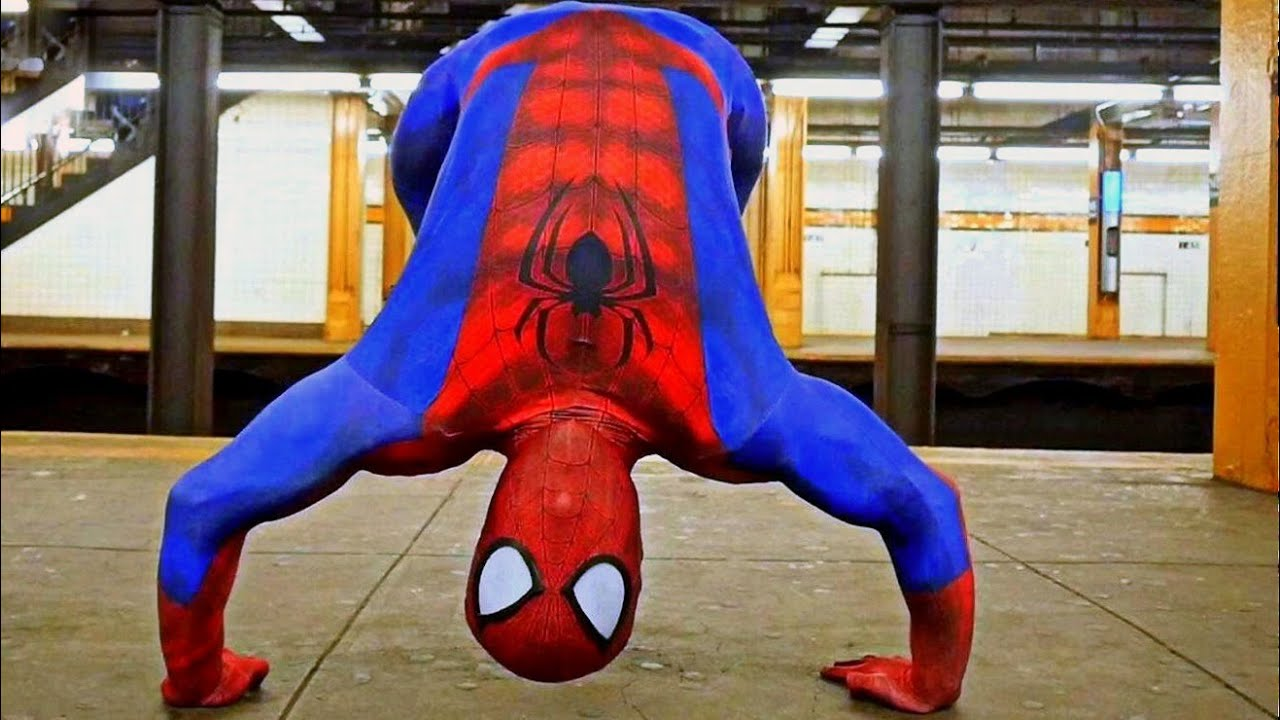 Amazing SpiderMan Break Dance Flips Spins Tricks YouTube - Awesome video baby spiderman dancing