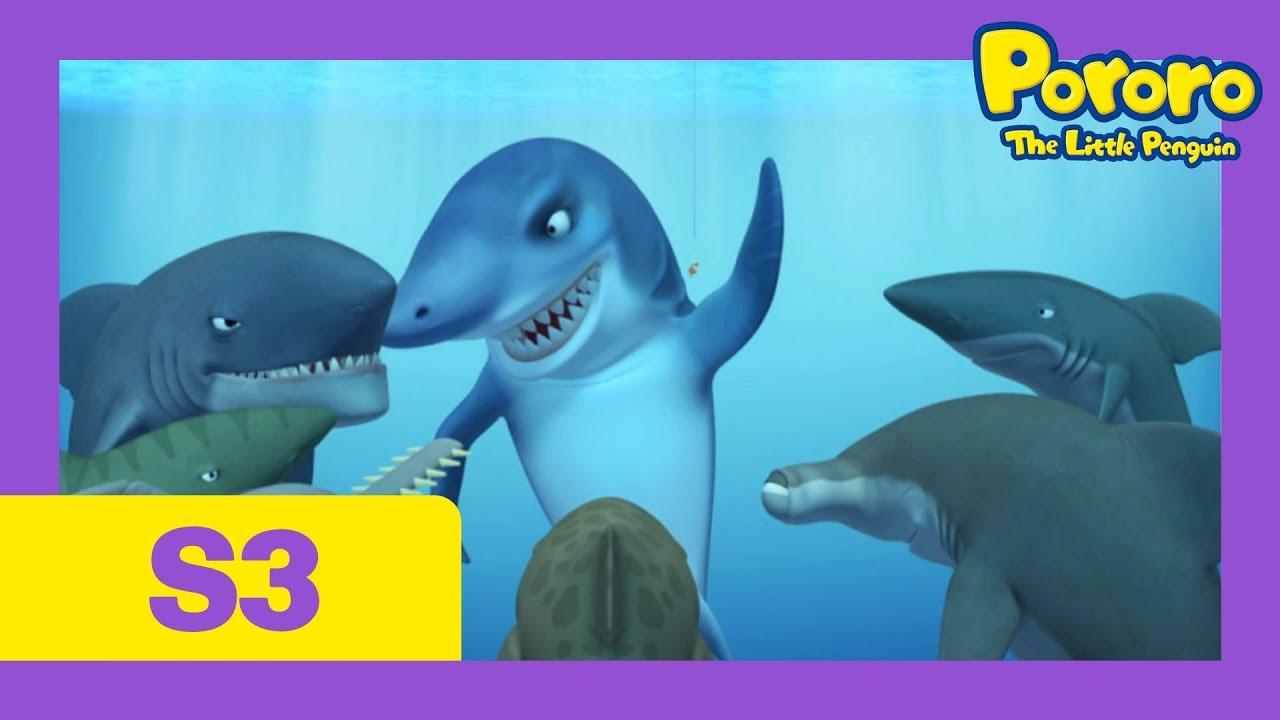 [Season 3] E37 Strange Games | Pororo shark attack!! | Kids Animation |  Pororo the Little Penguin