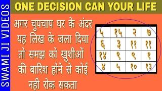इस कागज़ को घर में चुपचाप जला दो  । safalta ka mul mantra in hindi।हर जगह नाम होगा। Om Namoh Narayan