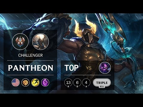 Pantheon Top Vs Kennen - NA Challenger Patch 9.16