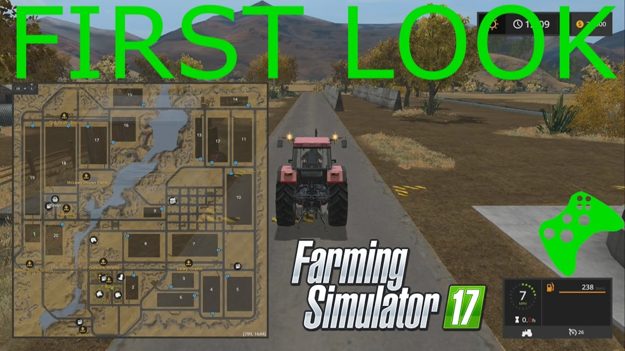 Farming Simulator XBOX ONE FIRST LOOK American Outback YouTube - Fs 17 us map