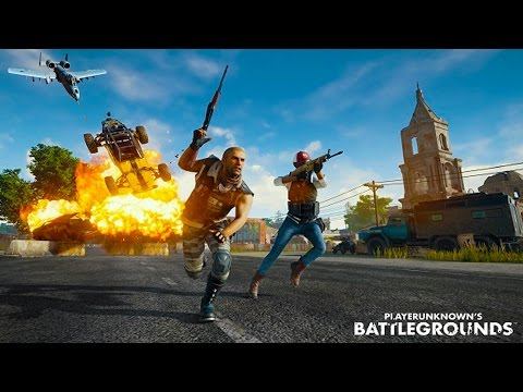 BEST BATTLE ROYALE GAME EVER!! PlayerUnknown's Battlegrounds 4-Player SQUAD Co-op Gameplay