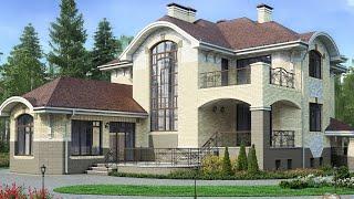 Строительство дома с бассейном, гаражом и террасами, цоколем, 300 кв  |Ремстройсервис М 149