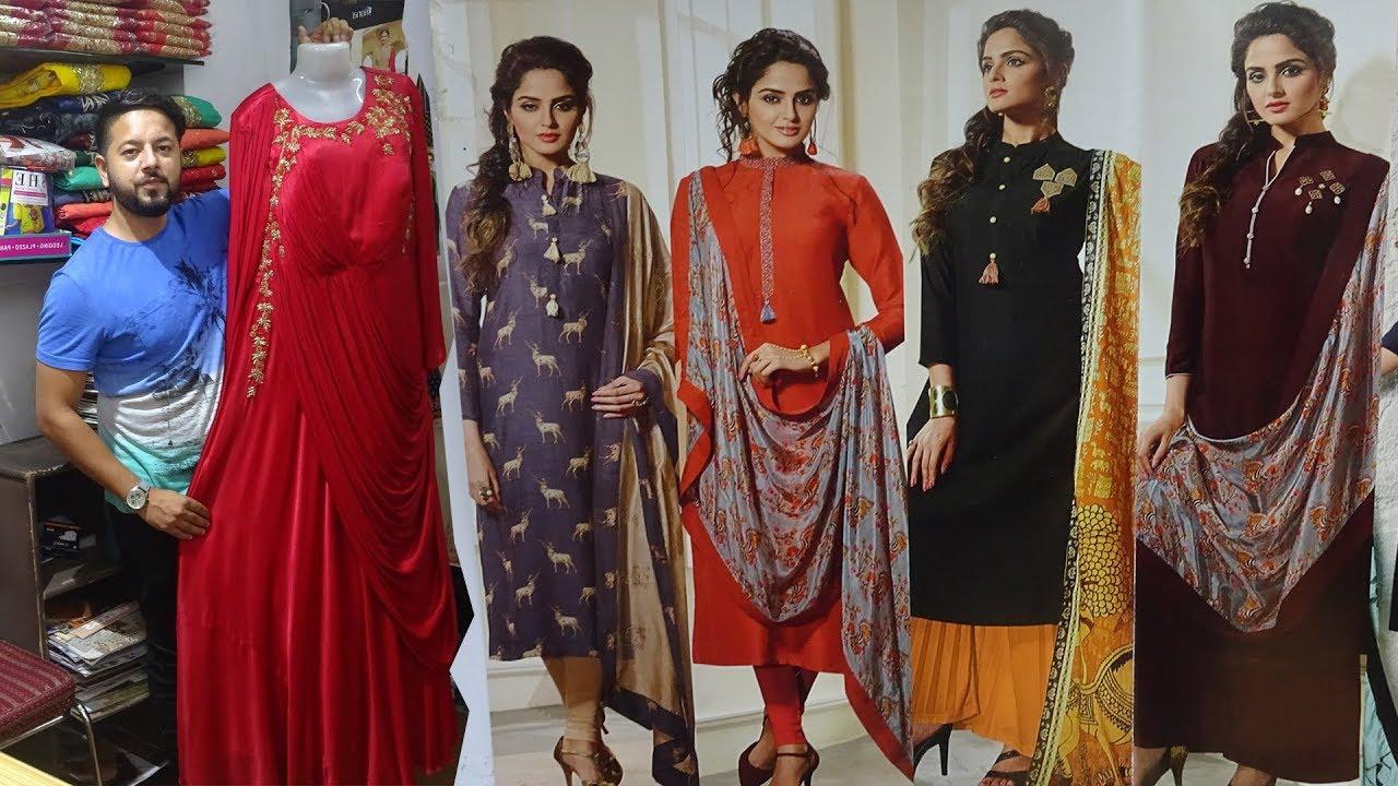 Only Boutique Kurti Collection Designer Fancy Long Gown Festival Wear Wedding Kurti Wholesaler