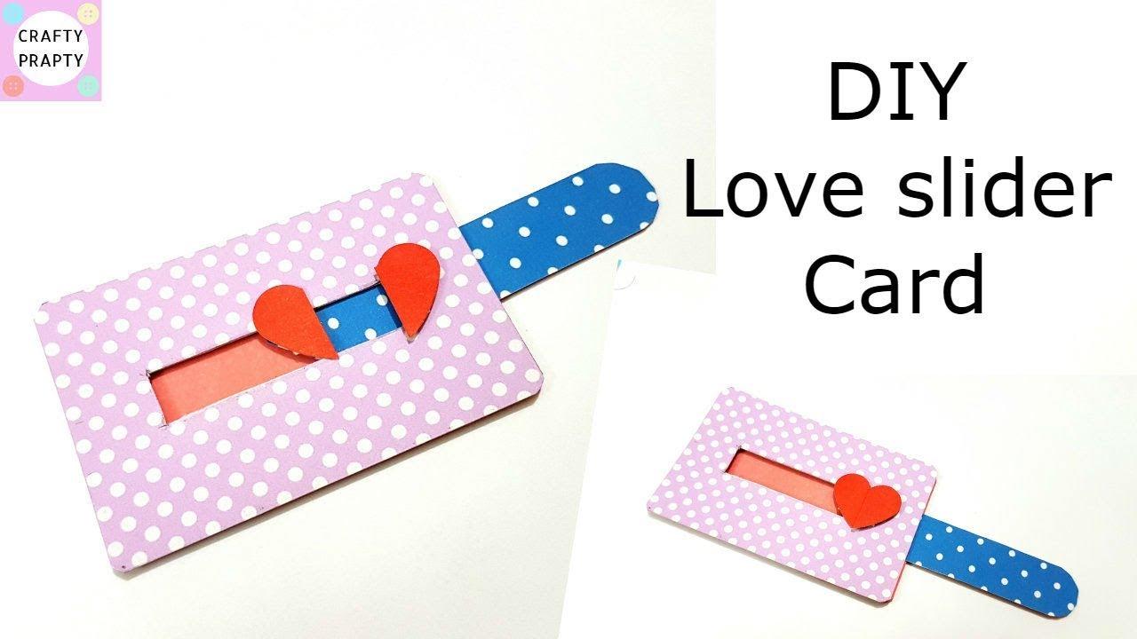 Diy Love Slider Card Tutorial Tutorial For Scrapbook Tutorial For