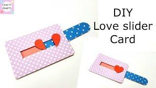 DIY Love Slider card tutorial/Tutorial for scrapbook/Tutorial for explosion box