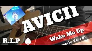 R.I.P AVICII -Wake Me Up-instrumental acoustic guitar cover by Rene Di