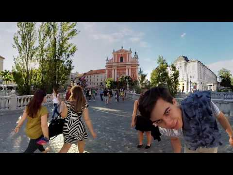 Ljubljana Tromostovje 360 virtual reality TOUR GUIDE the three bridges