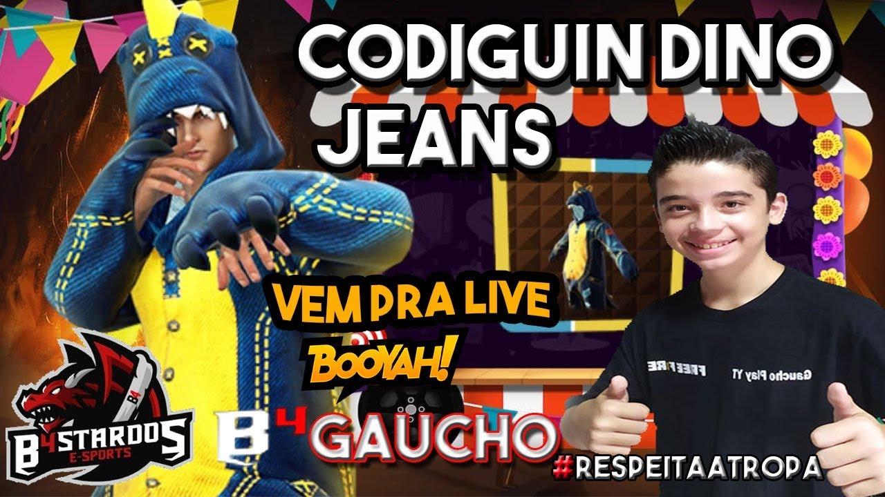 codiguin novo dino jeans free fire resgatar novo dino