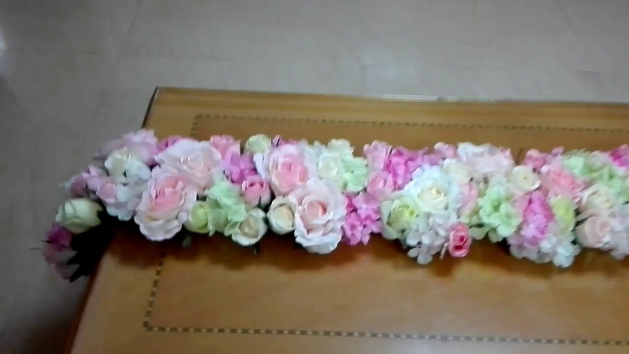 Diy floral table runner tutorial youtube solutioingenieria Gallery