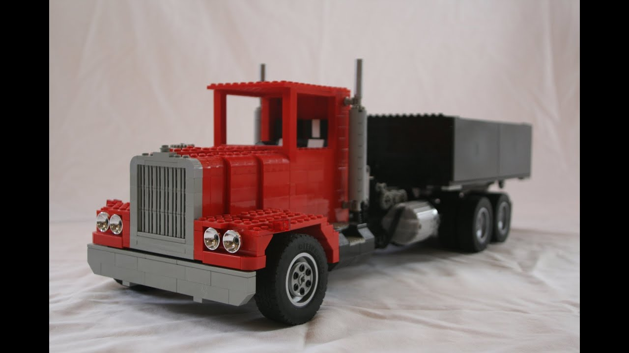 lego rc roll off container truck youtube