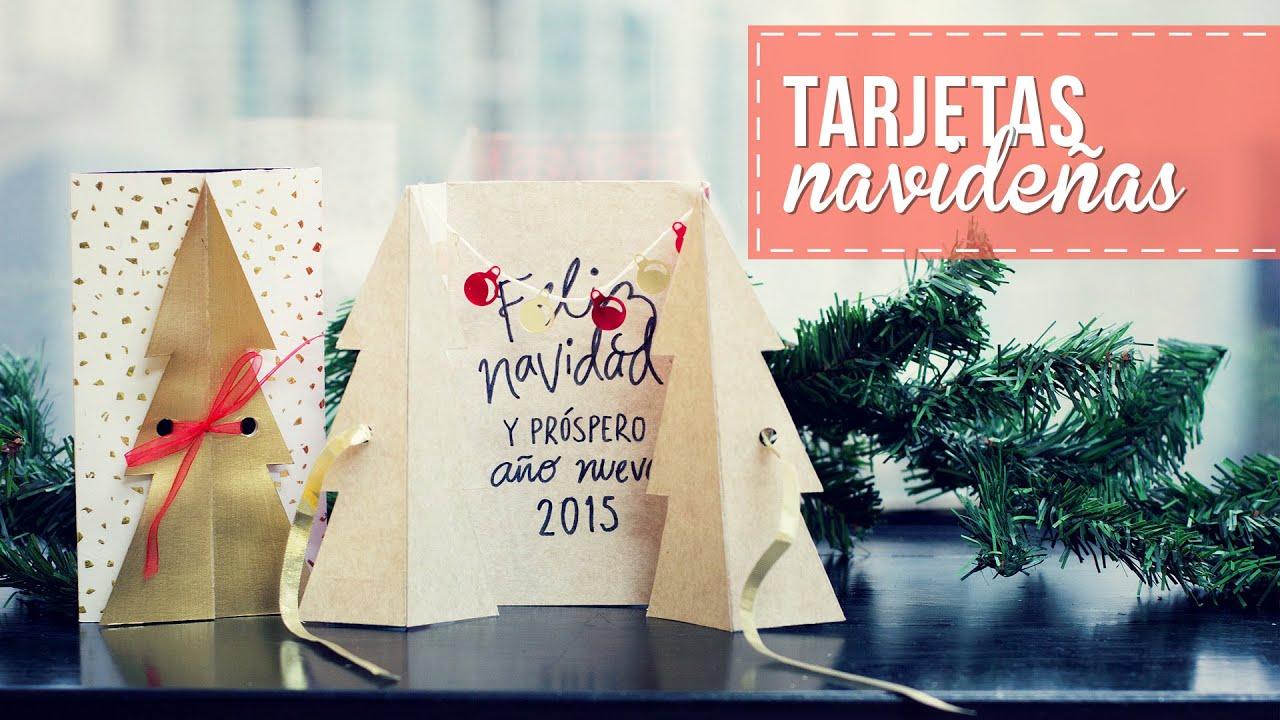 Tarjetas navideas bonitas y fciles Anie YouTube