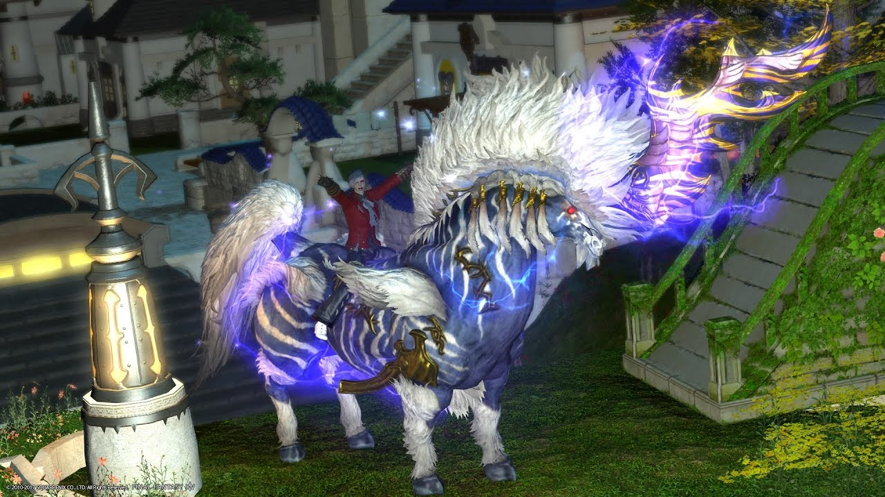 FFXIV - Ixion Mega FATE and Ixion mount by CUTS3R